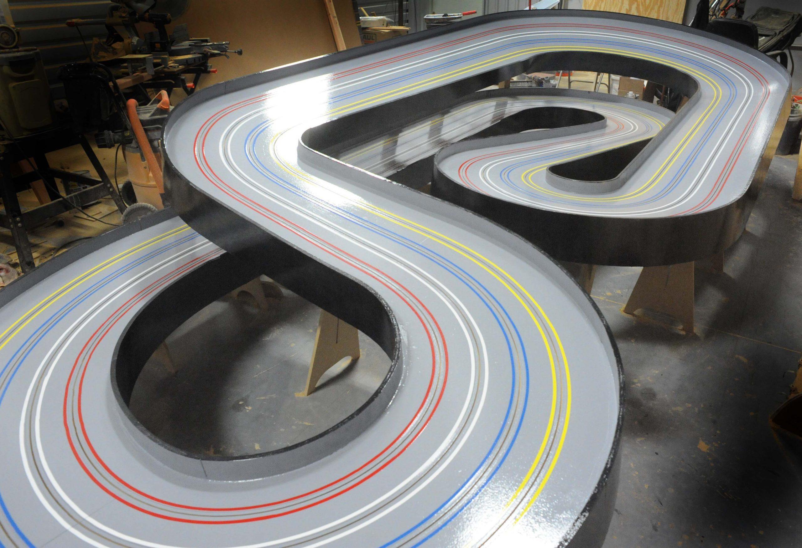 4 lane home slot car track